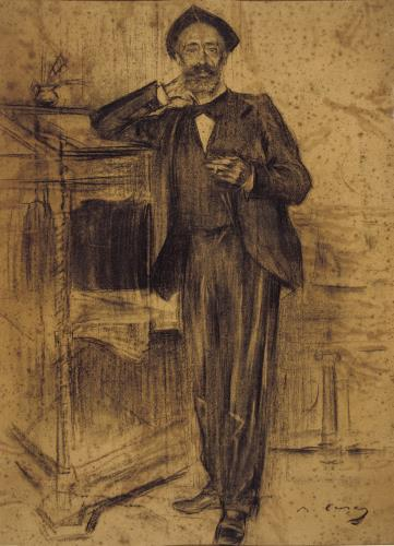 Ramon Casas, Retrato de Apel·les Mestres, hacia 1897-1899