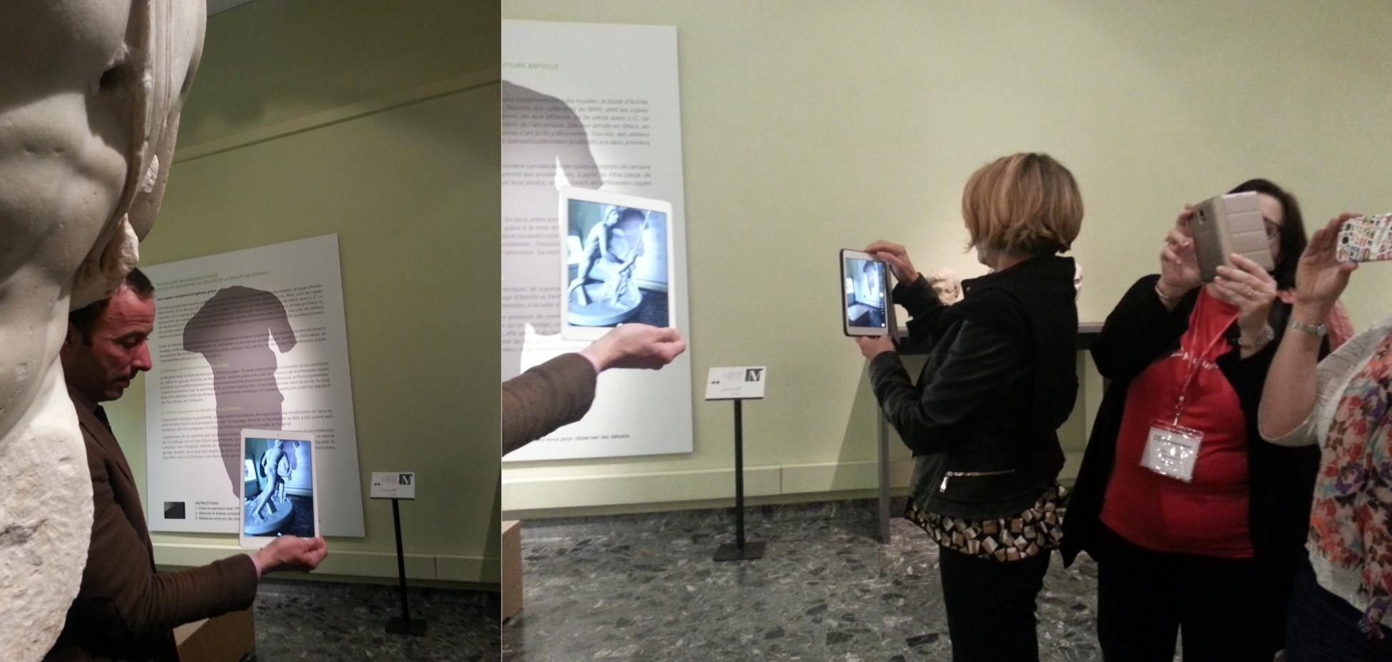 Realitat augmentada de l'escultura d'Aquil·les. Musée d'Art et d'Histoire. Fotos: Conxa Rodà