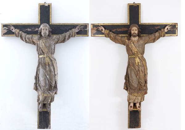 Imagen general antes y después de la restauración