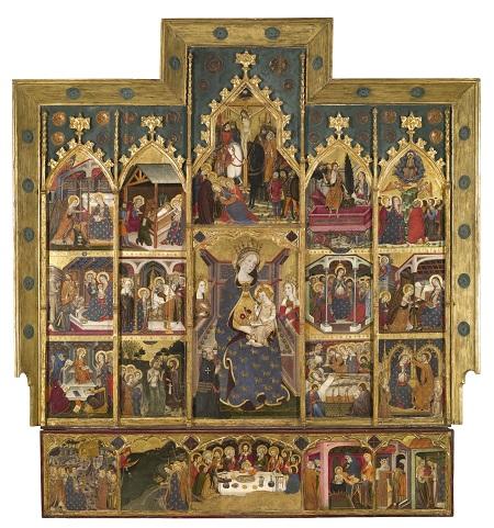 Jaume Serra, Retaule de la Mare de Déu, cap a 1367-1381 (detall de la predel.la)