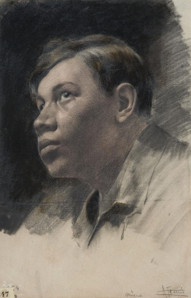ni Fabrés, Portrait of the painter Diego Rivera, circa 1904