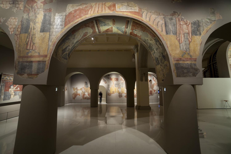 Sala de arte románico del Museu Nacional
