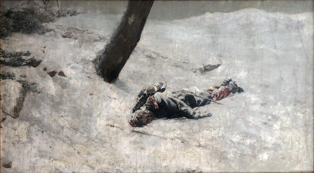 Antoni Fabrés, Sentinella mort. (Col·lecció Matilde Betti-Berutto)