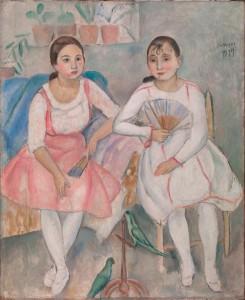 Joaquim Sunyer, Les dues cotorres, 1917
