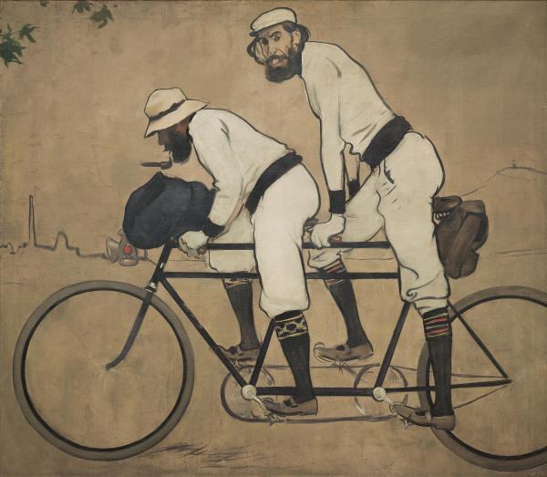 Ramon Casas, Ramon Casas y Pere Romeu en un tándem, 1897