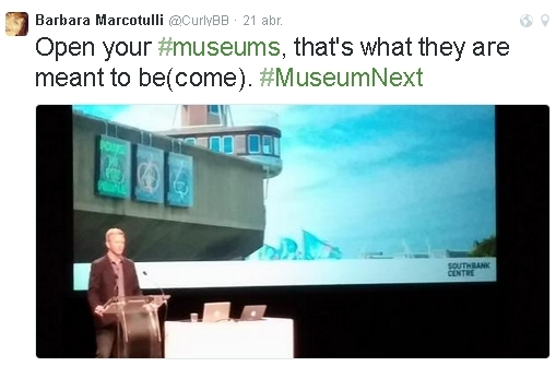 """""""Obriu els vostres #museus, això és al que estan destinats a ser (convertir-se)"""""""
